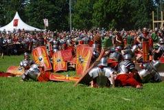 Battle scene Stock Images