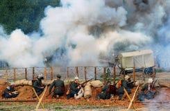 A battle scene Stock Photos
