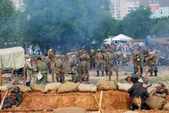 A battle scene. Stock Image