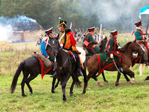 A battle scene Stock Images