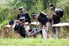 A battle scene Stock Image