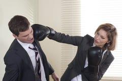 Battle of the sexes stock photos