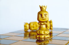 Battle of the sexes. Power play in the game of chess Stock Photo