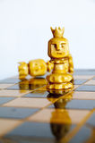 Battle of the sexes. Power play in the game of chess Stock Image
