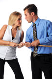 Battle of the Sexes. In the business world Stock Photo
