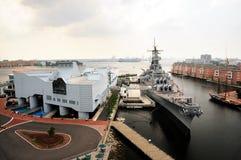 Battle ship stock photos