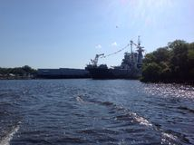 Battle Ship in the afternoon Royalty Free Stock Photography