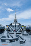 Battle Ship against beautiful sky Stock Photography