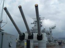 Battle Ship Guns Royalty Free Stock Photos