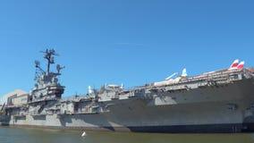 Battle ship New York stock footage