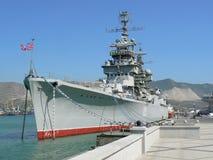 battle ship in Novorossisk Stock Photos