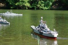 Battle ships royalty free stock photos