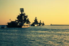 Battle ships Stock Photography
