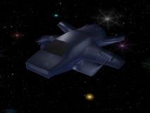 Battle spaceship Stock Image