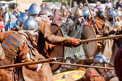 The battle with spears Royalty Free Stock Photos