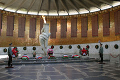 The battle of Stalingrad, the historical and memorial Museum-reserve. Mamaev Kurgan, may 2013 Stock Photography