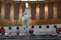 The battle of Stalingrad, the historical and memorial Museum-reserve. Mamaev Kurgan, may 2013 Royalty Free Stock Images