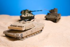 Battle of the tank. The battle tank in the dessert area royalty free stock photography