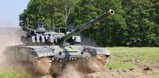 Battle tank. Tank army attack on the battle field Stock Images