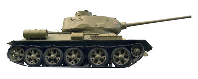Battle tank cutout Stock Photography