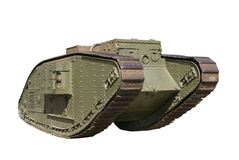 Battle tank from the First World War stock photography