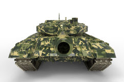 Battle Tank near isolated Royalty Free Stock Image