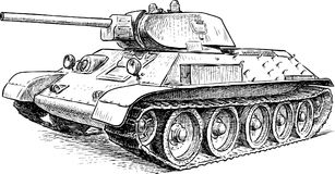 Battle tank of the Second World War time Royalty Free Stock Image