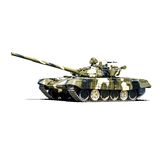 Battle tank t72. Vector illustration isolated on white background Royalty Free Stock Photography