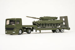 Battle Tank Transporter Stock Image
