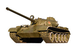 Battle tank on a white royalty free stock image
