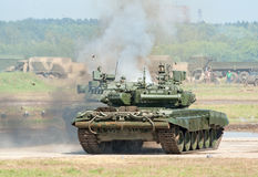 Battle tanks demonstrate combat Stock Images