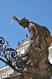 Battle of titans. Statue on the gate of presidential palace in prague Stock Photography