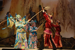 "Battle between the two armies- Beijing Opera"" Women Generals of Yang Family"" Stock Image"