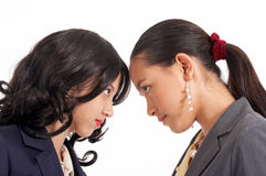 Battle of two employees Royalty Free Stock Photos