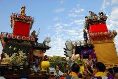 Battle of two festival floats