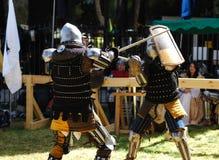 Fighting knight Stock Photos