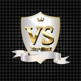 Battle vs match, game concept competitive vs. Vector illustration royalty free illustration
