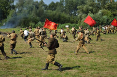 Battle of Warsaw. Participants of historical Battle of Warsaw (1920), reenact the Soviet soldiers Stock Photography