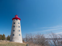 Battle of the Windmill, Prescott, Ontario, Canada. The Windmill Point Light, origionally a grist windmill converted into a lighthouse and the location of a Royalty Free Stock Photos