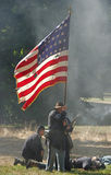 Battle worn flag Stock Photo