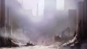 Battlefield art background. stock footage