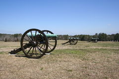 Battlefield Cannons. Battlefiled Cannons from past wars Royalty Free Stock Photography