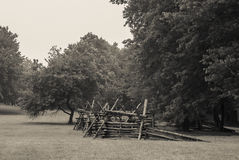 Battlefield Fence Stock Image