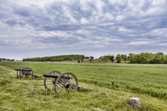 Battlefield Gettysburg. Civil War era cannons in the battlefields of Gettysburg, PA Royalty Free Stock Photo