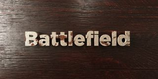 Battlefield - grungy wooden headline on Maple  - 3D rendered royalty free stock image. This image can be used for an online website banner ad or a print Stock Image