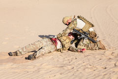 Battlefield medicine in the desert Royalty Free Stock Photo