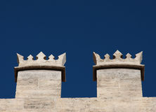 Battlement of a castle Stock Images