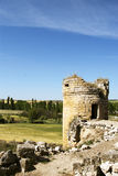Battlement of the castle of Trigeros del valle Stock Photos