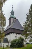 Battlement church,Marienberg, Germany Royalty Free Stock Photo