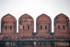 Battlement of Fort of Agra Royalty Free Stock Images